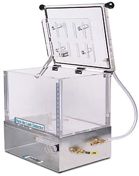vacuum chamber for leak testing